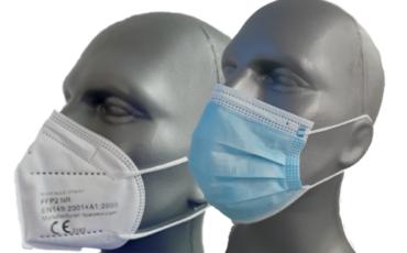 FFP2 Faltmasken und Einwegmasken (neue Preise!)